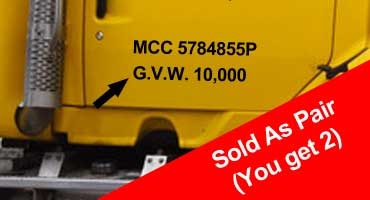 Gross Vehicle Weight - GVW - Number Kits